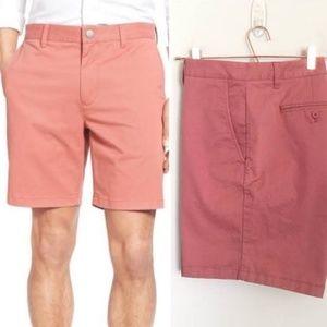 """NWOT Bonobos 7"""" Washed Chinos Pink Shorts, 35"""